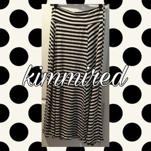 Dresses & Skirts - Black/(Off?)White Striped Maxi Skirt ~ 2XL ~REPOSH